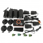 2.4GHz sans fil DVR + 4 * 300KP IR Cameras Kit - Orange + Black US Plugs