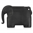Elephant Style Silicone Back Case w/ Stand for IPAD 2 / 3 / 4 - Black