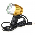UltraFire K1A 900lm 1-LED 6-Mode Cool White Light High-Power Bike Light Headlight - Gold (4 x 18650)