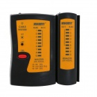 JAKEMY JM-468AL Network Cable Tester w/ LED Light - Black + Orange + Red