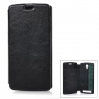 Protective Flip-Open PU Case Cover for THL T4000 - Black
