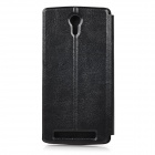 Protection flip -Open Cover Case PU pour THL T4000 - Noir