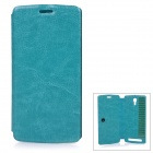 Protective Flip-Open PU Case Cover for THL T4000 - Blue