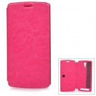 Protective Flip-Open PU Case Cover for THL T4000 - Deep Pink