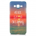 Sunset Scenery Pattern Protective TPU Back Case for Samsung Galaxy G530 / G5308W - Red + Blue