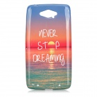 Sunset Scenery Pattern Protective TPU Back Case for Motorola XT1225 MAXX - Red + Blue