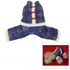 Chinese Tang Suit Style Festive Coat Jacket w/ Knot Buttons for Pet Cat / Dog - Blue (XL)