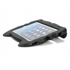 Cat Face Style Silicone Back Case w/ Stand for IPAD 2 / 3 / 4 - Black
