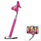 Universal Handheld Clip-on Selfie Monopod for Cell Phone - Deep Pink