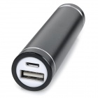 DIY 1*18650 Li-ion Battery USB Charger Power Bank Case w/ LED - Black