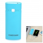 DIY 5V USB Output 2 x 18650 Li-ion Battery Power Bank Box Case w/ LED Indicator / Torch - Blue