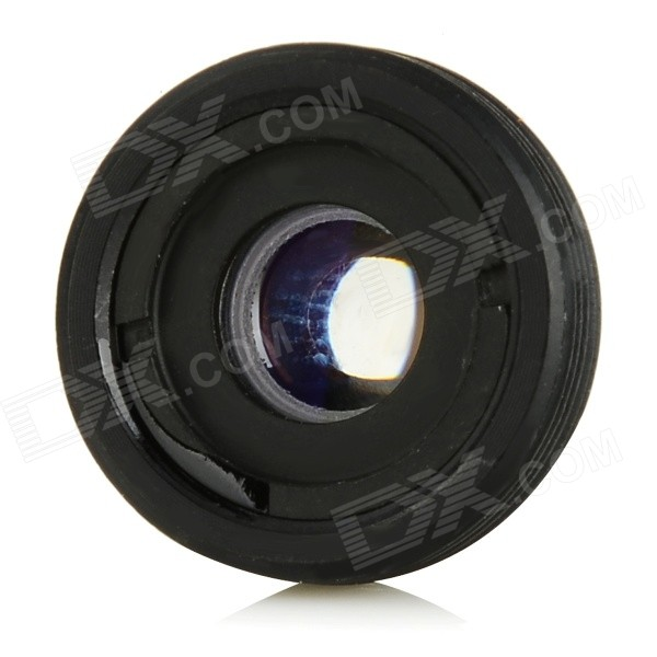 3.7mm Wide Angle Mini Lens for Security CCTV Camera - Black