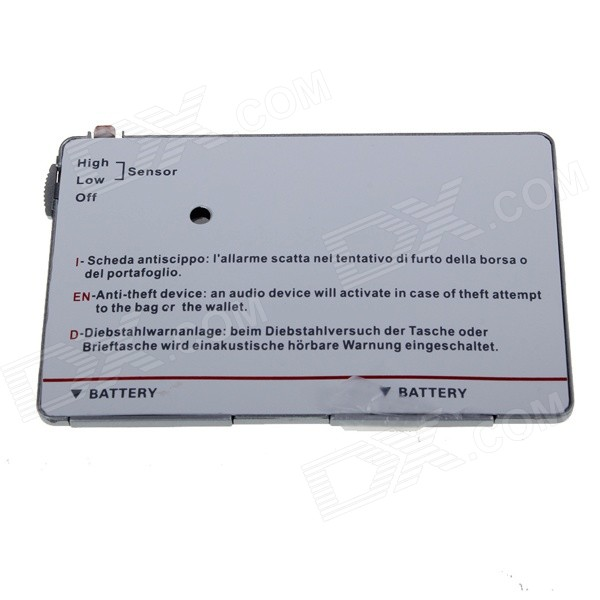 Ultrathin Smart Wallet Anti-Lost Alarm Card - White (2 x CR2016)