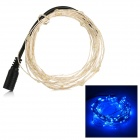 5W 100-LED Light String Blue Light 490nm 85lm w/ DC Plug(10M)