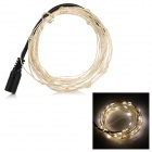 3W 50-LED Decoration Light String Warm White 3500K 85lm w/ DC Plug(5M)