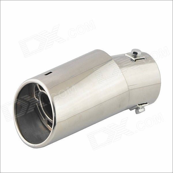 Universal Stainless Steel Muffler for Vehicles Exhaust Pipe (62.8mm-Inner Diameter) stainless steel tuned pipe exhaust for zenoah rcmk sikk rc boat 23 30cc 380mm