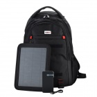 Conbrov ECE-088 Solar Battery Charger Backpack w/ 5W Solar Panel / 5000mAh Power Bank - Black