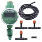 NEJE Electronic LCD Garden Water Timer Irrigation System Set - Green + Black (2 x AAA)