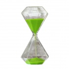 SL-003 Creative 15-Minute Hourglass / Sand Glass Timer - Green + Transparent