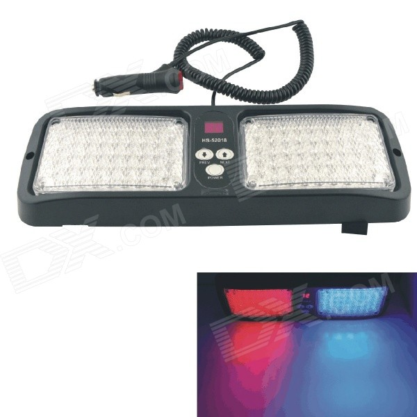 86-LED Strobe Red/Blue Light Warning Emergency Flashing Lamp