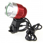 UltraFire K1A XM-L T6 900lm 6-Mode White Light High Power Bike Light - Red + Silver (4 x 18650)