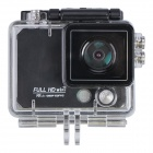 "X5 Wi-Fi FHD 2K Waterproof 12MP Sports Camera DV w/ 2"" LCD / 170 Degree Wide Lens - Black"