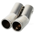 Universal Dual Stainless Steel Muffler for Vehicles Exhaust Pipe (63mm-Inner Diameter)
