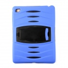 Pcover29 Protective Silicone Full Body Case w/ Stand for IPAD AIR 2 - Blue