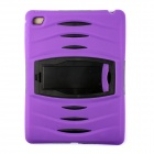 Pcover29 Protective Silicone Full Body Case w/ Stand for IPAD AIR 2 - Purple