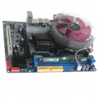 DIY mini ordinateur assemblage G31 carte mère + CPU + 1 Go de RAM + fan set