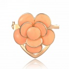 eQute XPEW26C9 OL's Fashionable Plum Blossom Style Scarf Ring / Brooch - Light Brown
