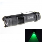 UltraFire SK68 LED XP-E Q5 Green Light 100lm 3-Mode Zooming Flashlight - Black (1 x 14500)