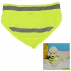 Adjustable Glow-in-the-Dark Dacron Neckerchief Scarf for Pet Cat / Dog - Fluorescent Green (S)