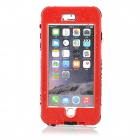 "Waterproof Touch ID Enabled PC + Silicone Case for IPHONE 6 Plus 5.5"" - Red + Black"