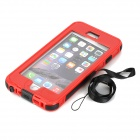 "Waterproof Touch ID Enabled Case for IPHONE 6 Plus 5.5"" - Red + Black"