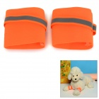 DM10032 Dog Safety Wrist Bands Wraps Guards Protectors - Fluorescent Orange (Size L / 2 PCS)