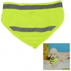 Adjustable Glow-in-the-Dark Dacron Neckerchief Scarf for Pet Cat / Dog - Fluorescent Green (M)