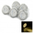 JRLED MR16 3W LED Spotlights Warm White 3300K 300lm (5PCS)