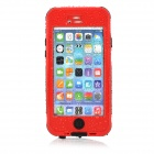 "Waterproof Touch ID Enabled PC + Silicone Case for IPHONE 6 4.7"" - Red + Black"
