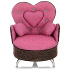 A36-392 Creative Sofa Shaped Cosmetic Storage Box - Pink + Gold