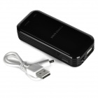 Y56W 5000mAh Power Bank w/ Torch for IPHONE / Cellphone + More - Black