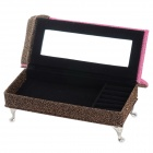 A47-392 Creative Sofa Shaped Cosmetic Storage Box - Pink + Gold