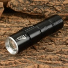 USB Rechargeable XP-G R5 120lm 3-Mode Cool White Light Zooming LED Flashlight - Black + Silver