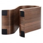 Fashionable U-Shaped Headphones Holder - Wood Color