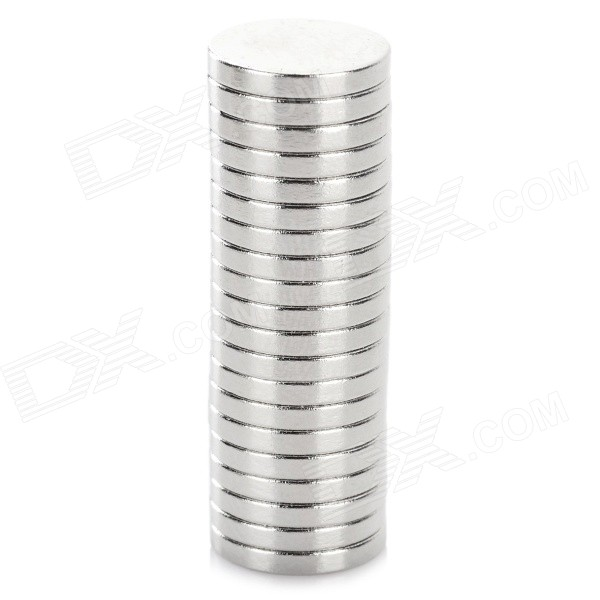 NdFeB N35 Round Magnets - Silver (12*2 mm / 20PCS)