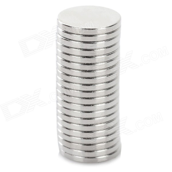 NdFeB N35 Round Magnets - Silver (12*1.5 mm / 20PCS)