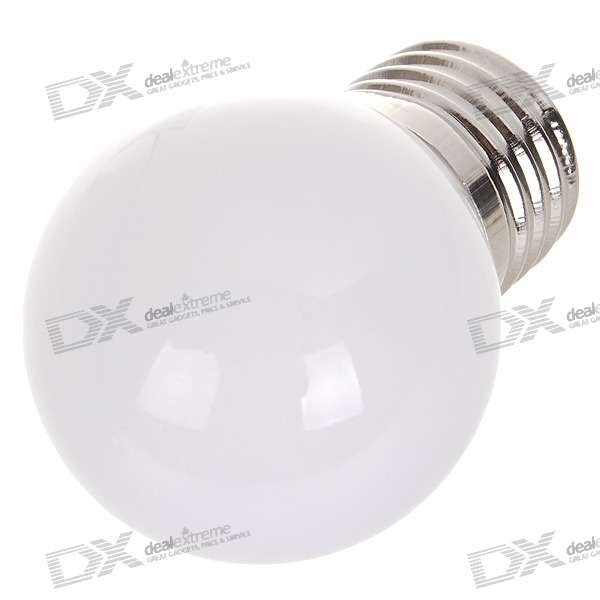 E27 0.7W 25-Lumen 2900K Warm White Light LED Globular Bulb (85~265V)