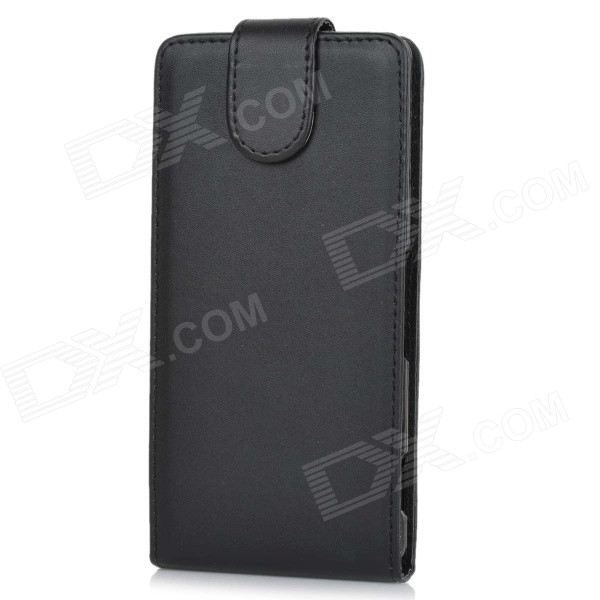 Protective Top Flip Open Case Cover for Sony Xperia Z3 / L55T - Black