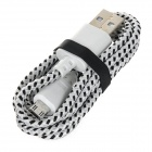 5V 2A Braided Data Cable Micro USB Power Adapter - White (EU Plug)