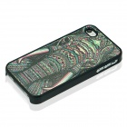Protective PC Back Case for IPHONE 4 / 4S - Black + Multicolored